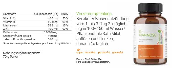 D-MANNOSE + - Für eine gesunde Blase